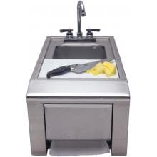 Alfresco 14-Inch Outdoor Rated Prep And Wash Sink With Towel Dispenser - ASK-T image