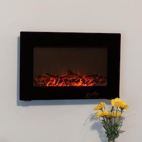 gas wall fireplaces. Fire Sense 31 Inch Wall Mount Electric Fireplace  Black 60757 Gas Fireplaces Log Guys