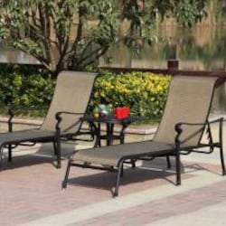 Darlee Monterey 3 Piece Sling Patio Chaise Lounge Set image