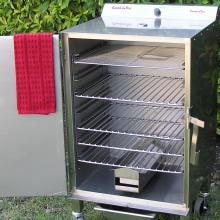 Smokin Tex 1400 Pro Series Electric BBQ Smoker Smokin Tex Pro Series Electric Barbecue Smoker - Open View