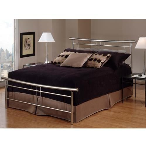 Hillsdale Soho Brushed Nickel Metal Bed Set Without Frame - Queen - 1331-500