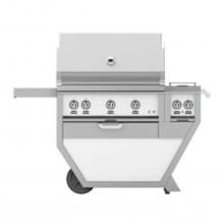 Hestan Deluxe 36-Inch Natural Gas Grill W/ All Infrared Burners, Rotisserie & Double Side Burner - Froth - GSBR36CX2-NG-WH image