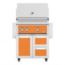 Hestan 30-Inch Freestanding Propane Gas Grill W/ Rotisserie On Double Drawer & Door Tower Cart - Citra - GABR30-LP-OR image