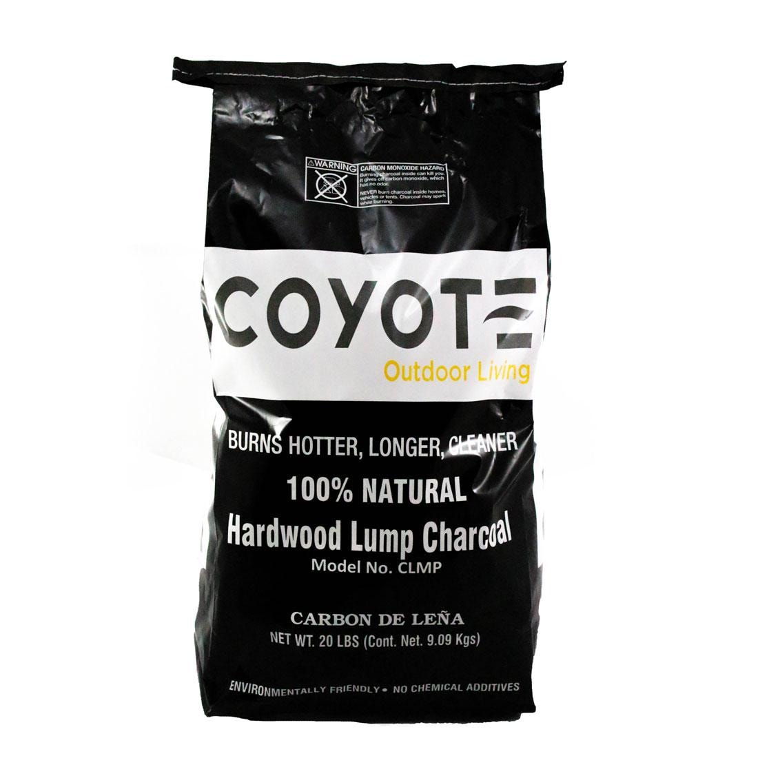 Coyote  Natural Hardwood Lump Charcoal - 20 Lbs - CLMP