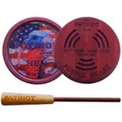 Cutt Down Game Calls PURPLE HEART PATRIOT Custom Pot Friction Call GLASS image