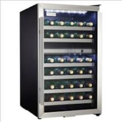 Danby Designer 38 Bottle Dual Zone Wine Cooler - Stainless Steel - DWC114BLSDD image