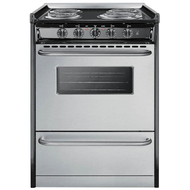 Summit Professional 24-Inch 4-Burner Slide-In Electric Ra...