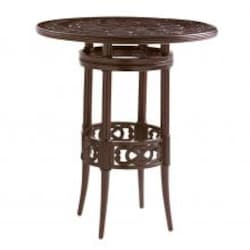 Black Sands 38 Inch Round Patio Bar Table W/ Adjustable Height Bar By Tommy Bahama image