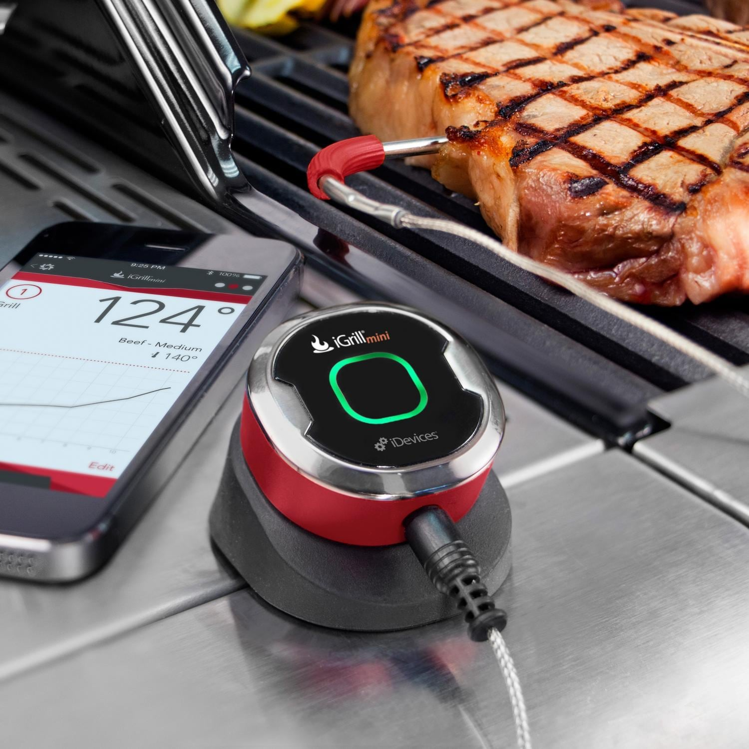 weber igr0001p5 igrill mini smart wireless bluetooth thermometer. Black Bedroom Furniture Sets. Home Design Ideas