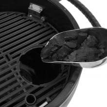Broil King Keg 5000 Steel Charcoal Kamado Grill - Gray Broil King Keg 5000 Steel Charcoal Kamado Grill - Removable Cooking Grate Insert For Adding Charcoal