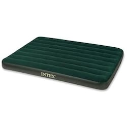 Intex Prestige Downy Air Bed, Green, Full, With 4D Pump