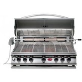 Cal Flame 40-Inch 5-Burner Convection Built-In Propane Gas BBQ Grill With Rotisserie - BBQ15875CP