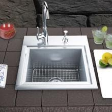 Sunstone Premium 21 X 20 Outdoor Rated Stainless Steel Drop In Sink With Hot/Cold Faucet - B-PS21 image