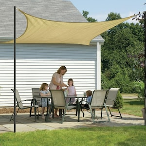 ShadeLogic Sun Shade Sail 12 Foot Square - Sand image