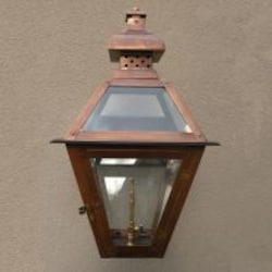 Regency GL20 Regenia Rue Natural Gas Light With Open Flame Burner And Electronic Ignition On Ceiling Basket Mount image