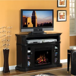 Classicflame Bellemeade 54 Inch Electric Fireplace A Console With Traditional Log Set Espresso