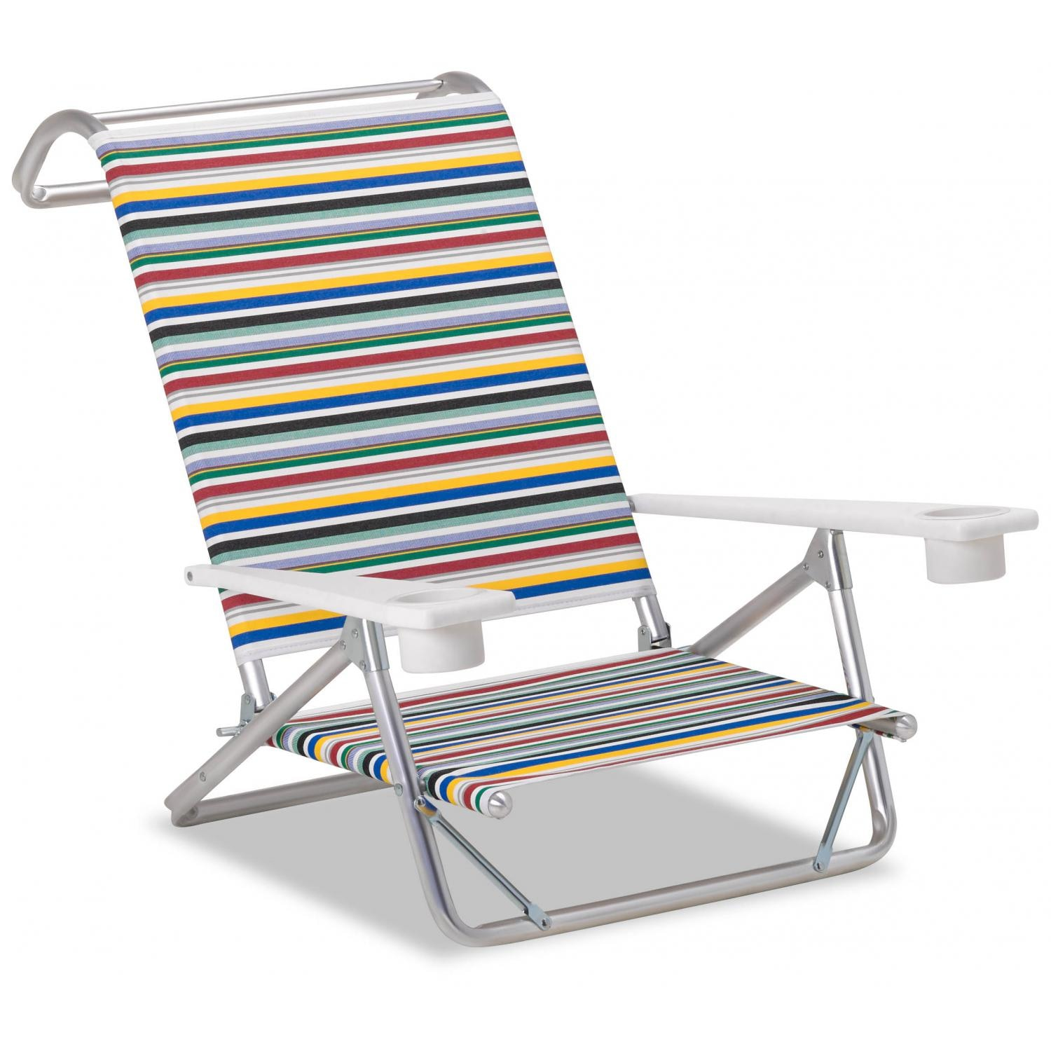 Original Mini Sun Folding Aluminum Beach Chair With Cupholders By