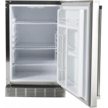 Coyote 21-Inch 4.1 Cu. Ft. Right Hinge Outdoor Rated Compact Refrigerator - CBIR Coyote 21-Inch 4.1 Cu. Ft. Outdoor Stainless Steel Refrigerator - Open View
