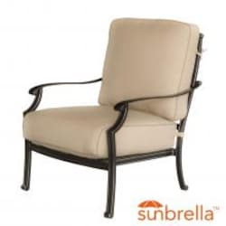 Carondelet Cast Aluminum Patio Club Chair W/ Sunbrella Spectrum Sand Cushion By Lakeview Outdoor Designs image