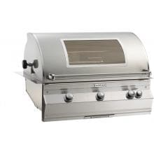 Fire Magic Aurora A790i 36-Inch Built-In Propane Gas Grill With One Infrared Burner, Analog Thermometer, Rotisserie And Magic View Window - A790i-6LAP-W Fire Magic Aurora A790i 36 Inch Built-In Grill
