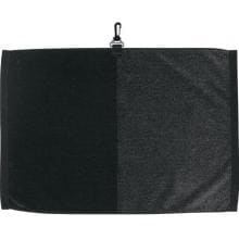 Toppers Premier Jacquard Golf Towel Black/Gray full view