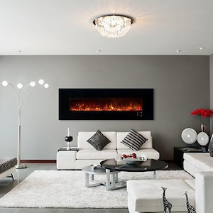 Modern Flames Ambiance CLX2 80-Inch Built-In Electric Fireplace With Black Glass Front - AL80CLX2-G image