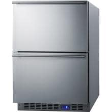 Summit 3.4 Cu. Ft. Outdoor Double Drawer Refrigerator - Stainless Steel - SPR626OS2D