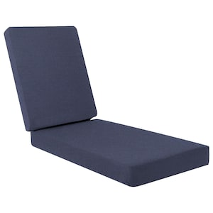 Sunbrella Spectrum Indigo Long Outdoor Replacement Chaise Lounge Cushion W/ Knife Edge By BBQGuys image