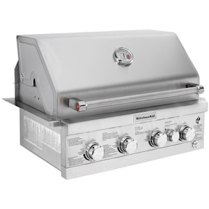 KitchenAid 30-Inch Built-In Natural Gas Grill With Rear Burner (Ships As Propane With Natural Gas Fittings) - 740-0780 image
