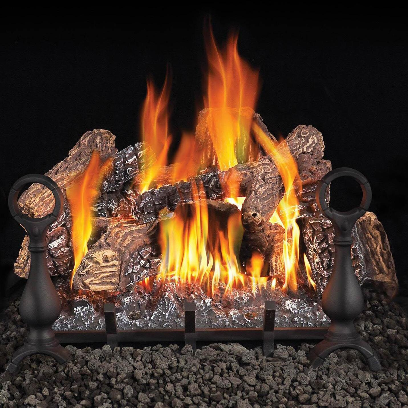 Napoleon 30 Inch Fiberglow Natural Gas Vent Free Gas Log Set With