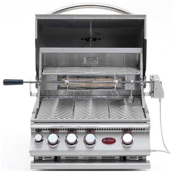 Cal Flame 25 Inch 3 Burner Built-in Propane Gas BBQ Grill