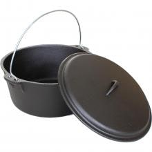 Cajun Cookware 9-Quart Seasoned Cast Iron Dutch Oven - GL10488S Cajun Cookware 9-Quart Seasoned Cast Iron Dutch Oven - Open View
