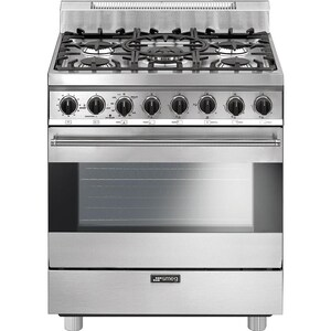 Smeg Classic 30-Inch 5-Burner Natural Gas Range - Stainless Steel - C30GGXU1 image