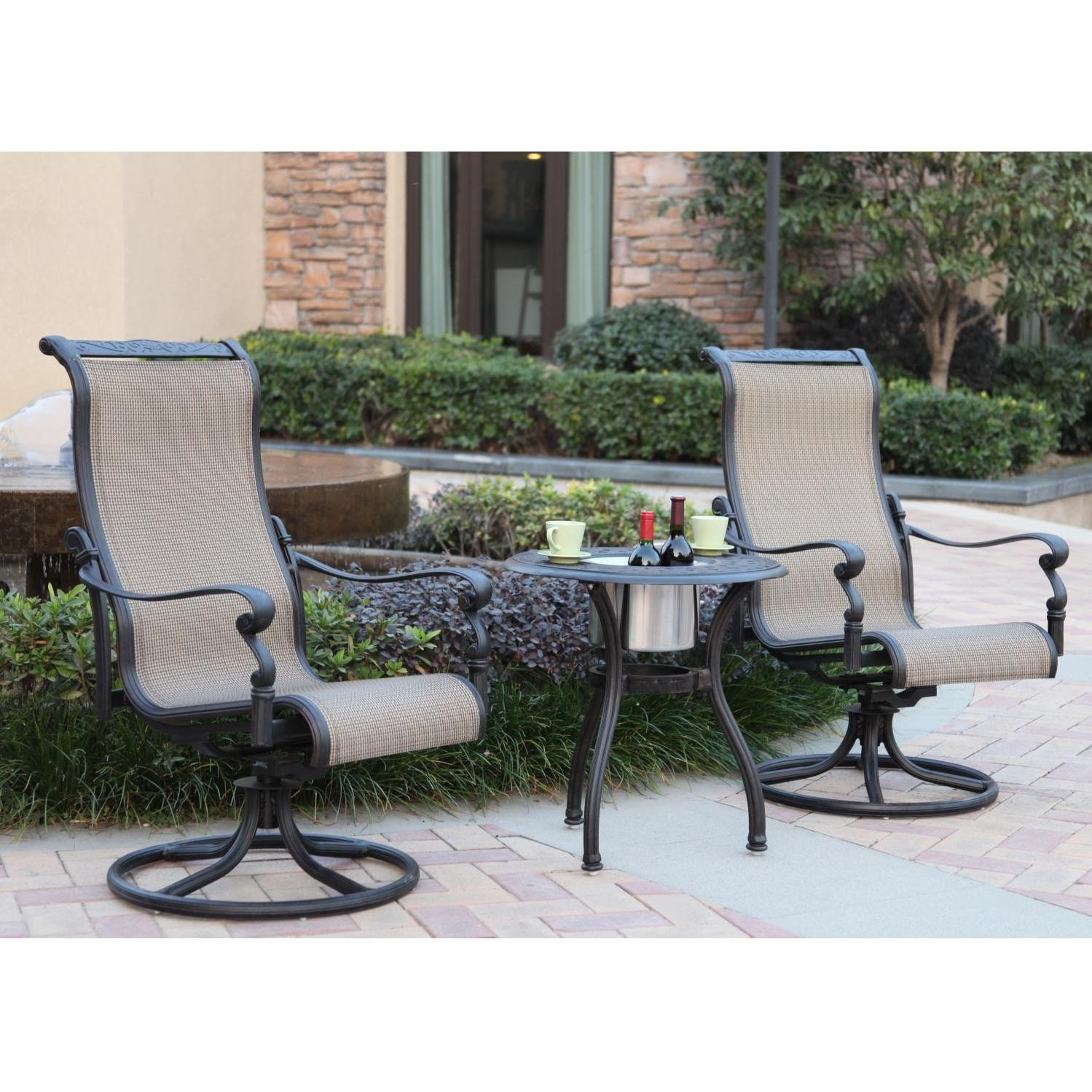 darlee monterey 2person patio set antique bronze