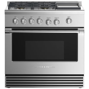 Fisher Paykel Professional (Formerly DCS) 36-Inch 4-Burner Natural Gas Range With Griddle - RGV2-364GDN N image
