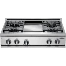 DCS Cooktops 36-Inch Natural Gas Cooktop With Griddle By Fisher Paykel - CP-364GD DCS 36-Inch Gas Cooktop With Griddle By Fisher Paykel - CP-364GD