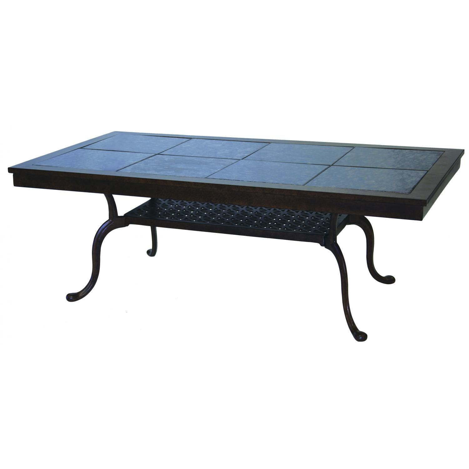 Aluminum Patio Coffee Table: Darlee Series 77 52 X 28 Inch Cast Aluminum Patio Coffee
