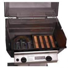 Broilmaster R3B Infrared Combination Propane Gas Grill On Stainless Steel Cart One Infrared Burner and One Conventional Burner