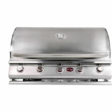 Cal Flame G5 40-Inch 5-Burner Built-In Propane Gas BBQ Grill - BBQ09G05 Cal Flame Gas Grills G5 5 Burner Built-in Gas Grill