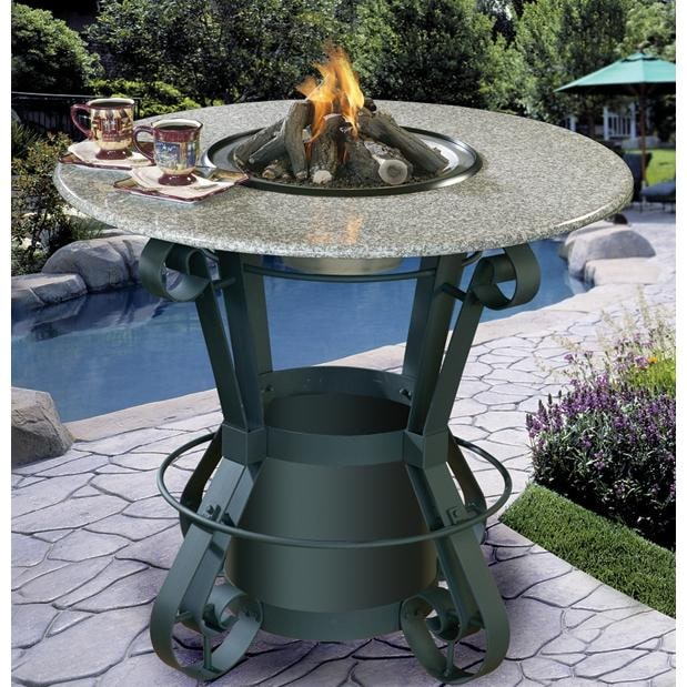California outdoor concepts solano bar height fire pit table with california outdoor concepts solano bar height fire pit table with pebble granite top and black base watchthetrailerfo