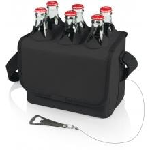 Picnic Time Six-Porter Insulated Beverage Cooler - Black