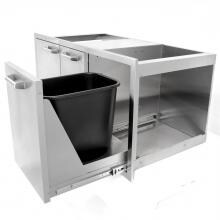 BBQGuys.com Sonoma Series 42-Inch Stainless Steel Door, Double Drawer & Roll-Out Trash Bin Combo BBQGuys.com Sonoma Series 42-Inch Stainless Steel Door & Drawer Combo - Trash Bin Extended