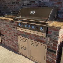 Lion L75000 32-Inch Stainless Steel Built-In Propane Gas Grill Lion 32-Inch L75000 Stainless Steel Built-In Propane Gas Grill - Shown in Outdoor Kitchen