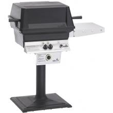 PGS T-Series T30 Commercial Cast Aluminum Freestanding Natural Gas Grill With Timer On Bolt-Down Patio Post