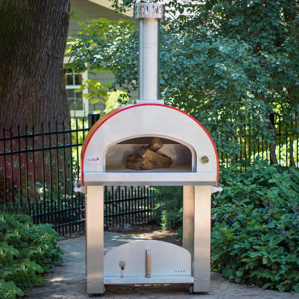 Bella Grande 32-Inch Wood-Fired Outdoor Pizza Oven On Cart ...