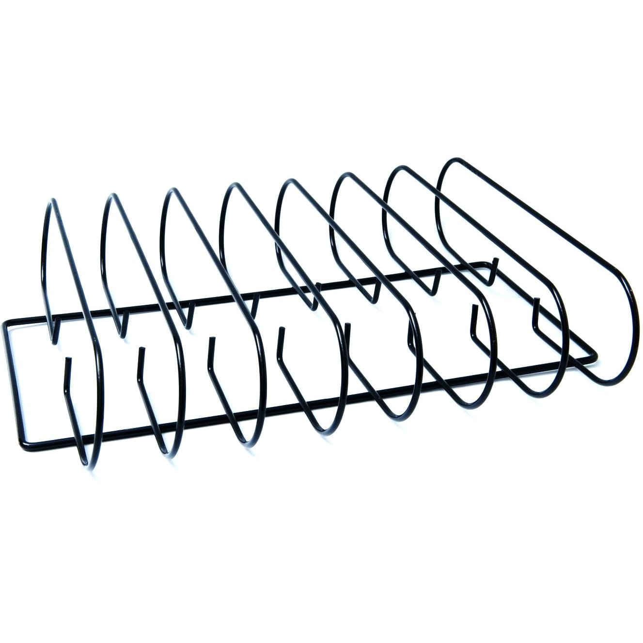Man-Law 11 X 14 Inch Non-Stick Stainless Steel BBQ Rib Rack