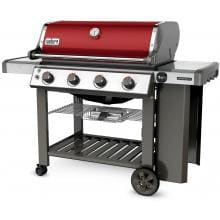 Weber Genesis II E-410 Freestanding Propane Gas Grill - Crimson Weber Genesis II E-410 Freestanding Propane Gas Grill - Left Angled View