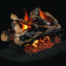 Peterson Real Fyre 24-Inch Rugged Split Oak See-Thru Gas Log Set With Vented G45 Burner - Match Light Peterson Real Fyre 24-Inch Rugged Split Oak See-Thru Gas Log Set With Natural Gas G45 Burner