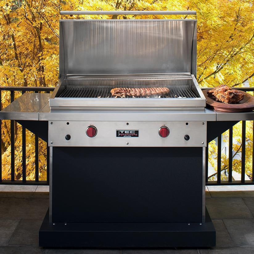 TEC Patio FR 44 Inch Infrared Grill   On The Patio (Shown With Optional  Warming Rack   Sold Separately)