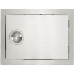 BBQGuys.com Portofino Series 24-Inch Stainless Steel Right-Hinged Single Access Door - Horizontal image